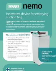 serres-nemo-fluid-disposal-equipment-for suction-bags-leaflet