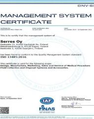 quality management system certificate ISO