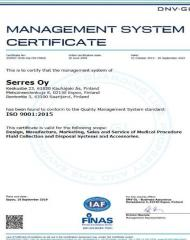 management system certificate ISO
